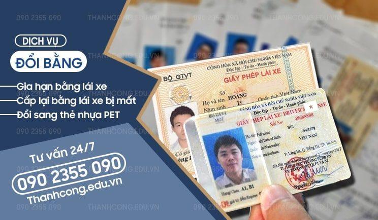 Đổi bằng lái xe hết hạn, gia hạn bằng lái xe, cấp lại bằng lái xe bị mất